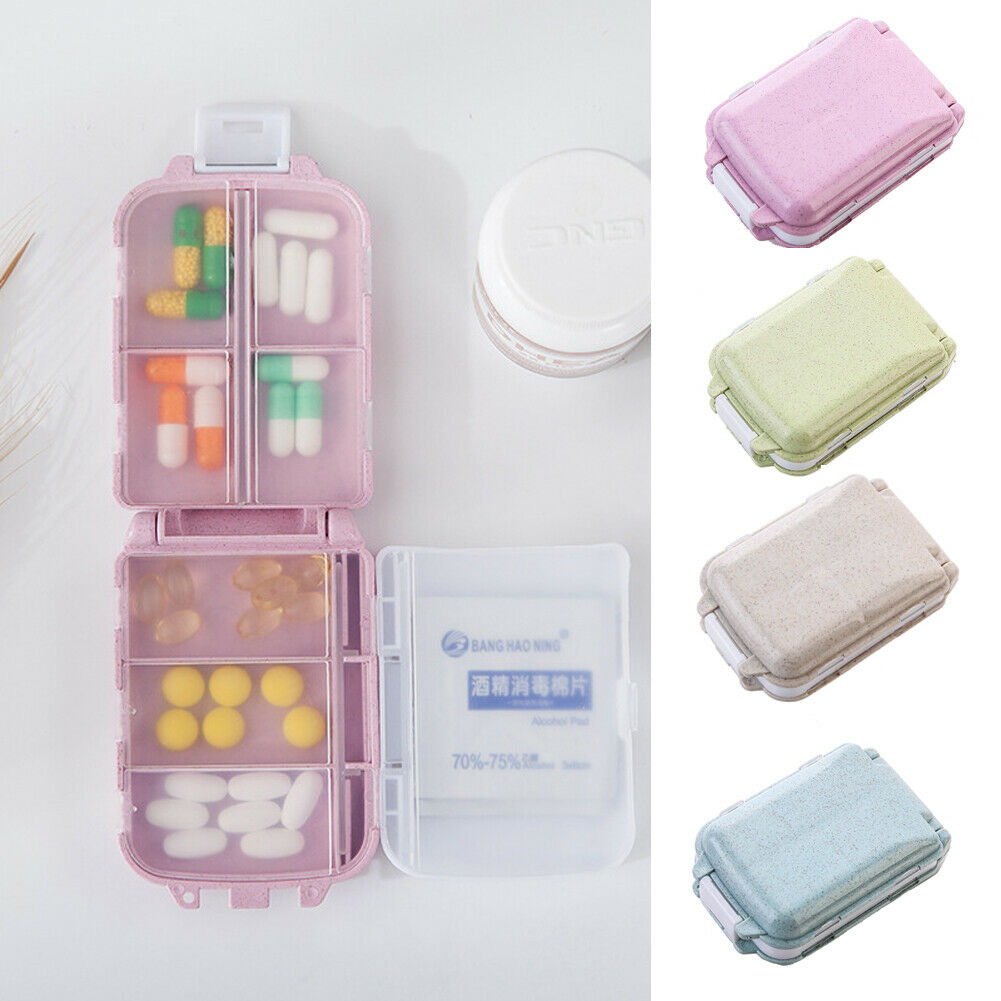 7 Days Frist Aid Tablet Pill Box Holder Weekly Medicine Storage Organizer Container Case Three Layers Folding Pill Case Boxes