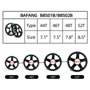 Image 5 - Ebike 48 فولت 750 واط Bafang BBS02B منتصف محرك دراجة نارية إلكترونية أطقم تحويل 68 73 مللي متر E الدراجة 8FUN محرك قوي أحدث نسخة