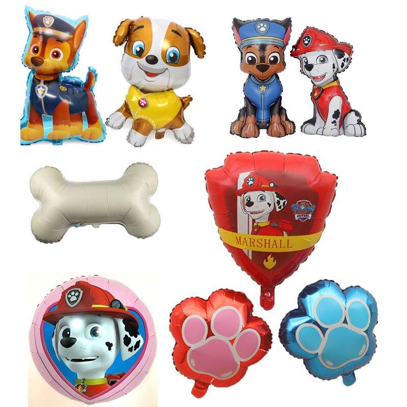Chaude 2020 patte patrouille anniversaire décoration Figure jouets chiot patrouille Ballon jouets fête salle décor Chase Marshall Ballon enfants jouet
