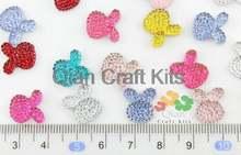 150 шт мини миниатюрные милые разноцветные хрустальные блестящие