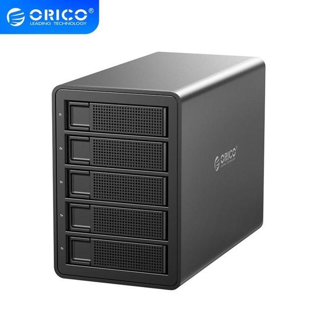 ORICO 35 سلسلة المؤسسة 5 خليج 3.5 قاعدة تركيب الأقراص الصلبة USB3.0 إلى SATA مع غارة قالب أقراص صلبة 150 واط الطاقة الداخلية HDD