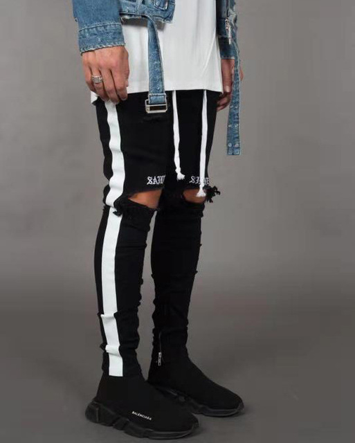 April MOMO Men Stylish Ripped Jeans 3