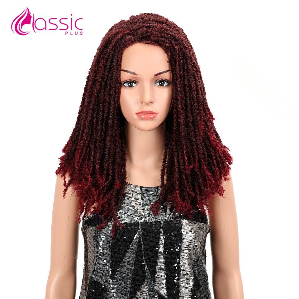 Perucas sintéticas macias da peruca das tranças