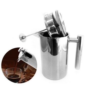 Macchina Da Caffè Francese | GUNOT Francese Presse Macchina Per Il Caffè A Doppia Parete In Acciaio Inox Caffettiera Lavabile Isolato Caffè Tè E Caffè Pentola Di Trasporto Fltro Strumenti
