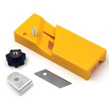 90 grad Jig Gipskarton Rand Hobeln Werkzeug Trockenbau Rand Fase Hand Werkzeug Für Holzbearbeitung Kunststoff