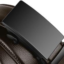 Famous Brand Business Belt Men Top Quality Genuine Luxury Leather Waist Strap Black Male Automatic Buckle Jeans Belts for Men