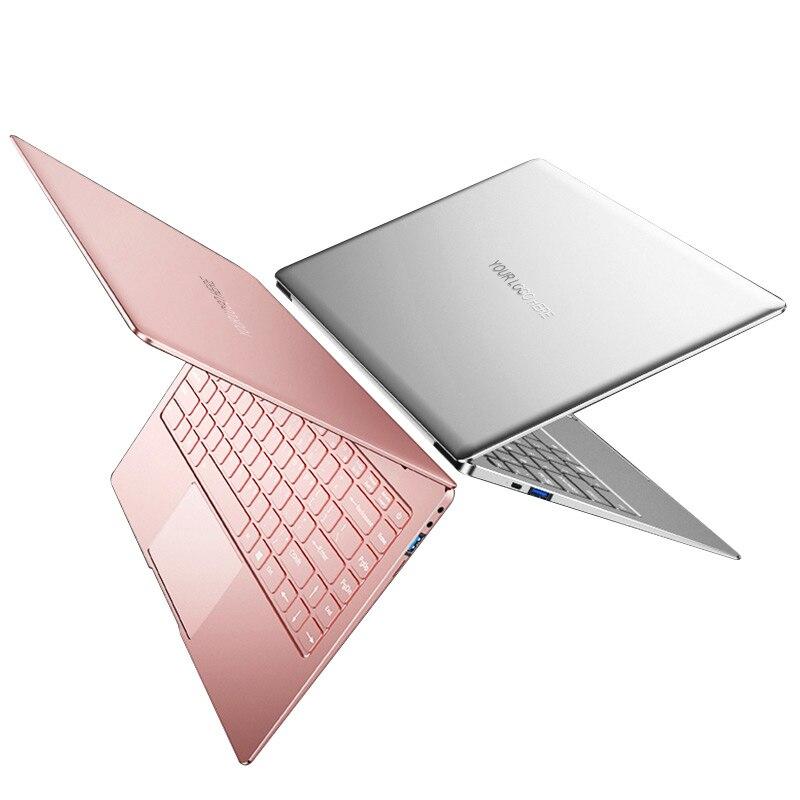 Gold Color Intel J3355 J3455 J4105 Notebook 8G DDR4 RAM 128/256/512/1024 G SSD 14