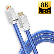 8K 60Hz HDMI 2.1 كابلات 4K 120Hz 48Gbps عرض النطاق الترددي قوس MOSHOU فيديو 2m الحبل واجهة وسائط متعددة عالية الدقة للتلفزيون مكبر للصوت