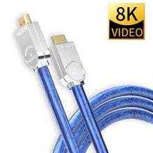 8K 60Hz HDMI 2.1 Câbles 4K 120Hz 48 Gbit/S de bande passante ARC MOSHOU Vidéo 2m Cordon Dinterface Multimédia Haute Définition pour Amplificateur TV