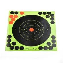 50pcs Target Practice Reactive Glow Shoting Rifle Florescent Papers Glue Reactive Shooting Target Sighting Shoot Accessories