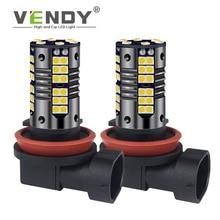 цена на 2x Canbus LED Fog Light Lamp Bulb H8 H11 H16 9006 HB4 HB3 H10 PSX24W Auto For vw polo sedan 6r 9n jetta mk6 6 explorer kuga 2