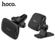 Hoco manyetik araç telefonu tutucu iPhone 11 12 Pro Max evrensel hava çıkışı navigasyon braketi mıknatıs standı Samsung a51 A71