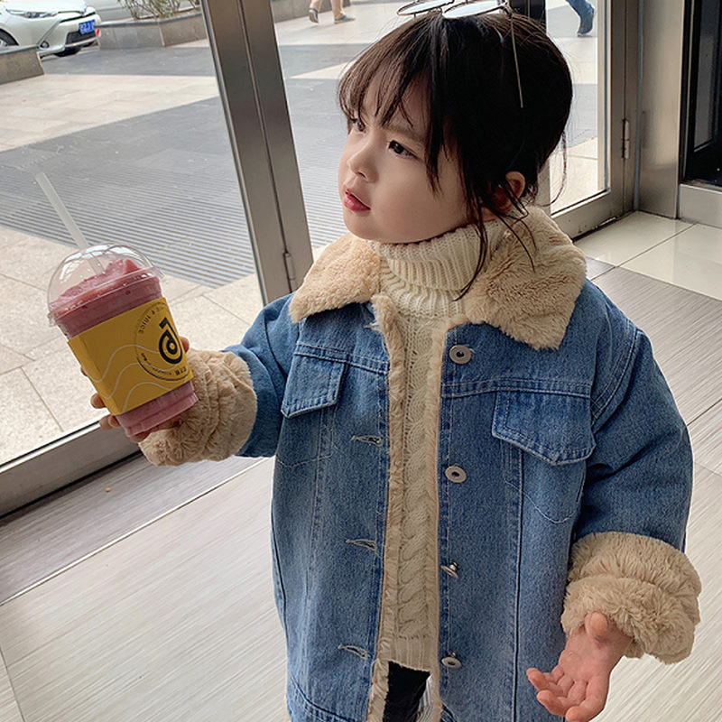Men And Women Children Coat Faux Rabbit Fur Super Soft Brushed And Thick Jacket Tops 20 Winter New Style Childrenswear