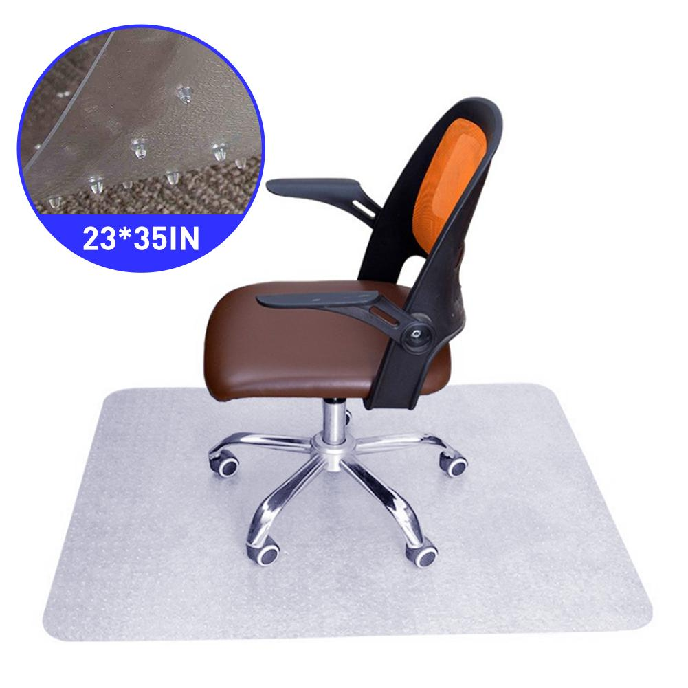 60*90cm Transparent Office Chair Mat For Carpet Thick Sturdy Floor Mats For Low And Medium Pile Carpets With Studs