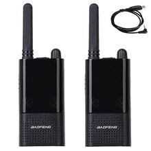 2 adet Baofeng BF T9 FRS UHF462 467MHz lisanssız radyo Walkie Talkie iki yönlü radyo USB kablosu