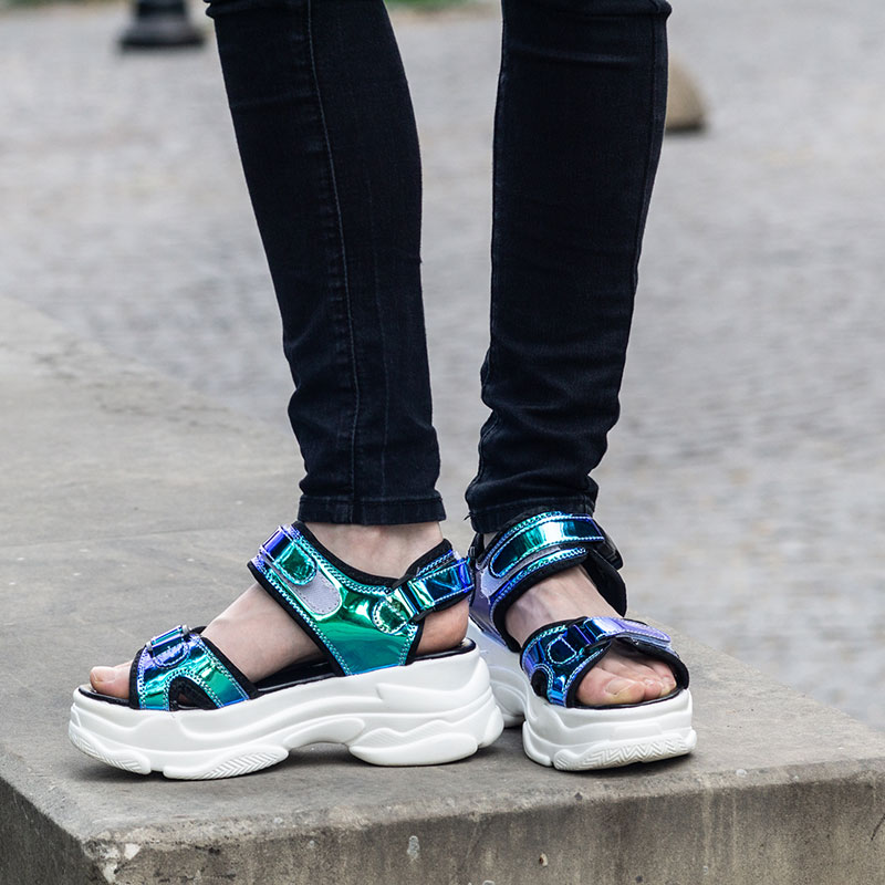 Fujin Brand Women Sandals 2019 New Fashion Ladies Casual Shoes Bling Wedges