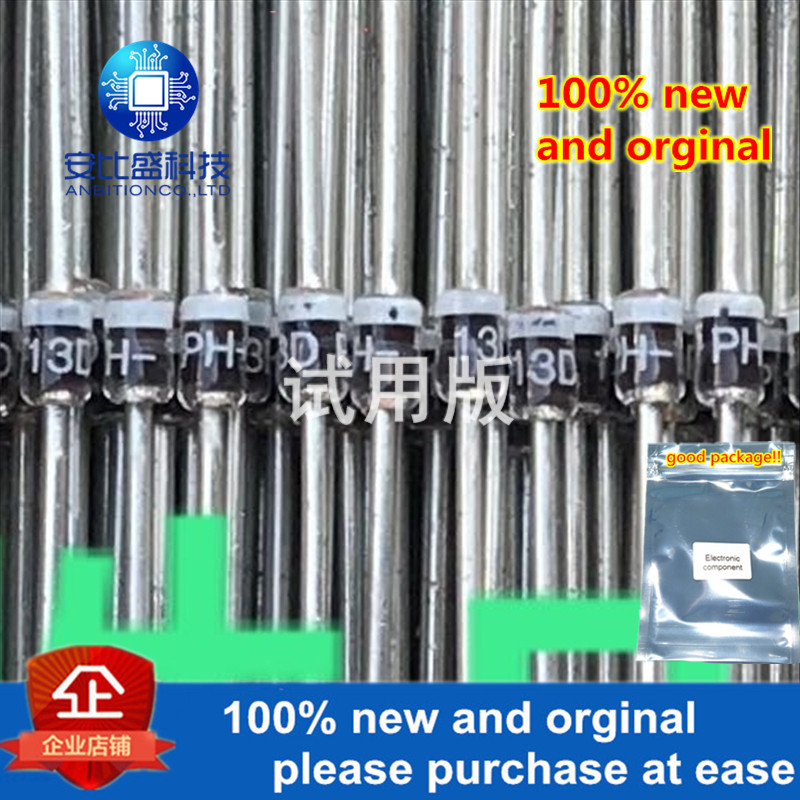 25-50pcs 100% New And Orginal BYD13D 1.4A200v SOD81silk-screen PH-13D Glass Passivated Fast Recovery Diode In Stock