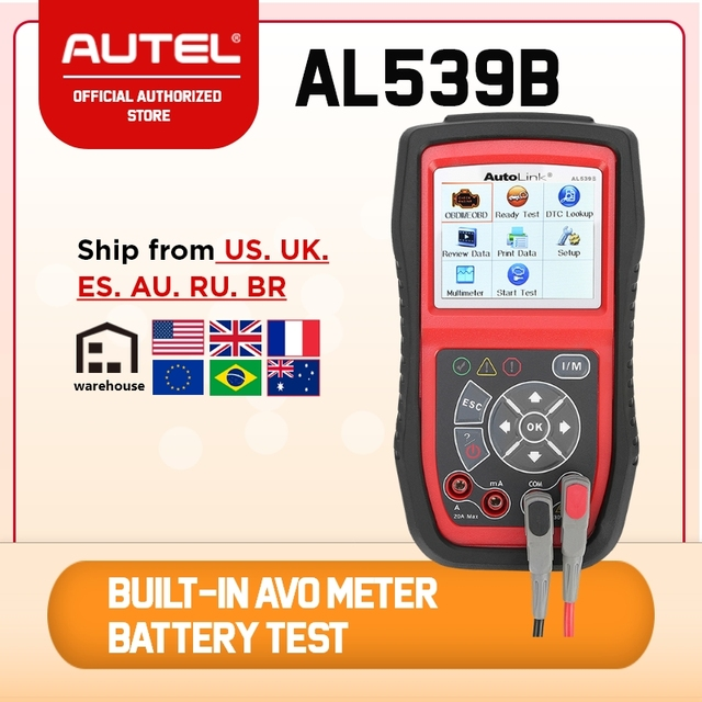 Autel AutoLink AL539B OBD2 Code Reader OBDII CAN Scanner Auto Diagnostic Tool Circuit and Battery Test Car Electrical Tester