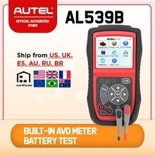 Autel AutoLink lector de código OBD2 AL539B, OBDII, herramienta de diagnóstico automático, circuito y control de batería, comprobador eléctrico para coche