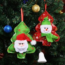 Christmas Pendant Props Tree Decoration Hanging Ornaments Santa Claus Snowman Pattern 2019