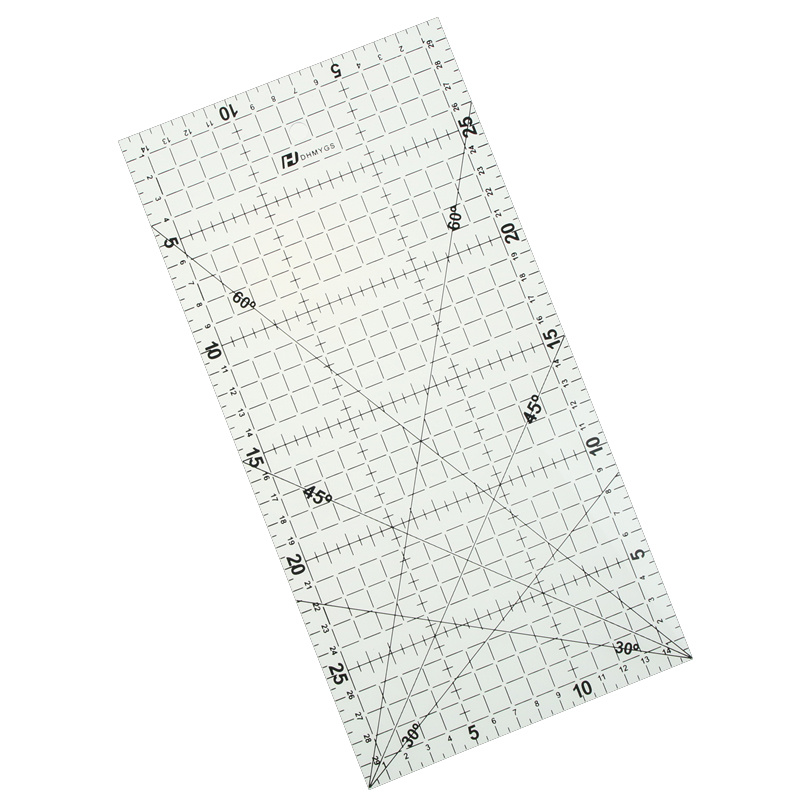 30 * 15 Cm Patchwork Ruler Quilting Tools High Grade Acrylic Material Transparent Ruler Scale  Design Ruler