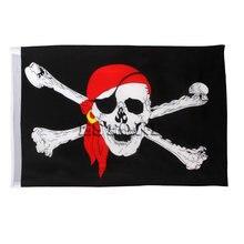 1 шт Большой Череп кросс кости пиратский флаг jolly roger подвесной