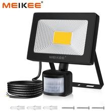 Foco LED de 20W con Sensor de movimiento, reflector LED impermeable IP66 de 2000lm para Patio y jardín
