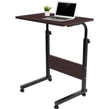 Регулируемый компьютерный стол, портативный вращающийся стол для ноутбука, журнальные столики, можно поднять, стоя, мебель для кровати, гос...