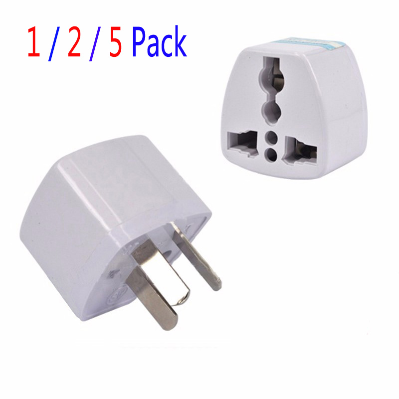 1/2/5Pcs Travel Plug Adaptor Power Adapter 3 pin Flat Plug NZ AU Converter US/UK/EU to AU Plug Charger For Australia New Zealand image