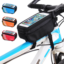 Mobile-Phone-Bag Bike-Accessories Bicycle Headphone-Hole Front-Tube Waterproof with 6inch