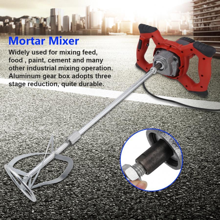 Cement Mixer Electric Industrial Concrete Mixer Hand Mortar 1500W