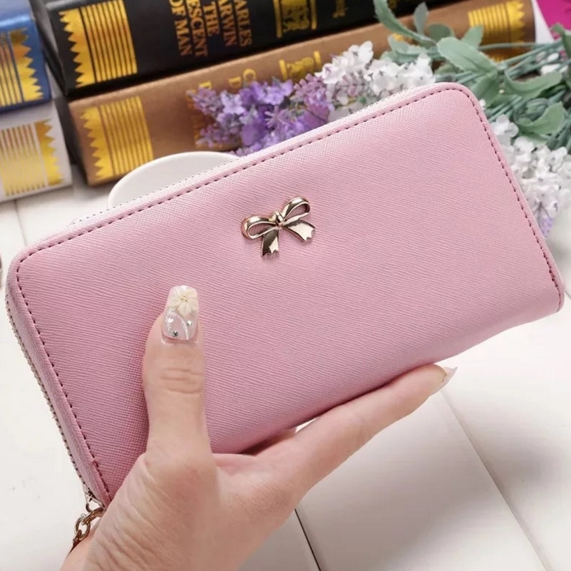 Wallet Women  Clutch Leather Wallet Long Card Holder Phone Bag Case Coin Purse Handbags  /BY
