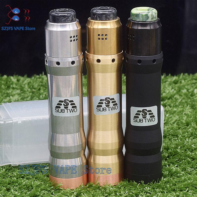 Sub Two KVindicator Mod Kit With Dual RDA 510 Mechanical Mod Fit 18650 20700 21700 Battery Vape Pens Mod Kits THC Tauren Max Mod
