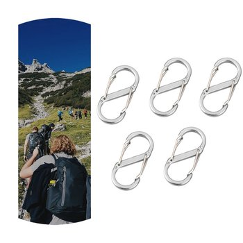 10pcs S-shaped Double-sided Mountaineering Hook Backpack Hanging Buckle Outdoor Multi-function Small Hook Water Bottle Hook cs 12 24 in s hook s hook not include pot