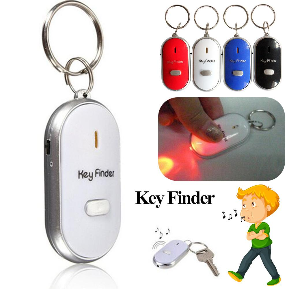 Mini Key Finder Anti-lost Whistle With LED Torch Smart Remote Flashing Beeping Keyfinder Locator Keyring For Children image