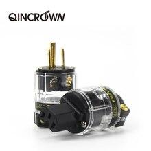 FI 11M (Cu) / FI 11 Cu Audio Power Plug 24K Gold plated IEC Connector plug 15A/125V Hifi MATIHUR hi
