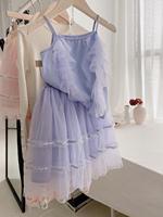 2020 April 20th presale girls clothing set summer solid color sweet girls clothes set