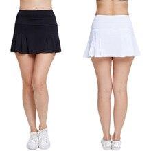 Спортивная короткая юбка Женская Повседневная однотонная плиссированная летняя юбка с высокой талией и карманом короткая юбка женская быстросохнущая эластичная юбка для гольфа