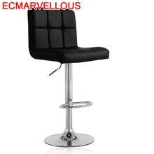 Sgabello Comptoir Hokery Sandalyesi Bancos Moderno Stoel Tabouret De Industriel Leather Cadeira Stool Modern Silla Bar Chair