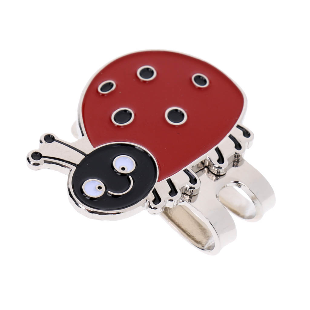 2pcs Replacement Golf Cap Clip With Removable Ball Markers Magnetic Putting Line Alignment