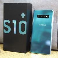 S10 + G975F original desbloqueado Samsung Galaxy S10 teléfono móvil 128GB 6,4