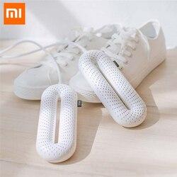 Nowa Xiaomi YOUPIN przenośna suszarka do butów domowych ultrafioletowe UV stała temperatura suszenie dezodoryzacja elektryczna suszarka do butów w Półki i organizatory na buty od Dom i ogród na