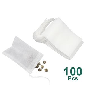 Tea Bags 100 Pcs/Lot Bags For Tea Bag Infuser With String Heal Seal 5.5 x 7CM Sachet Filter Paper Teabags Empty Tea Bags(China)