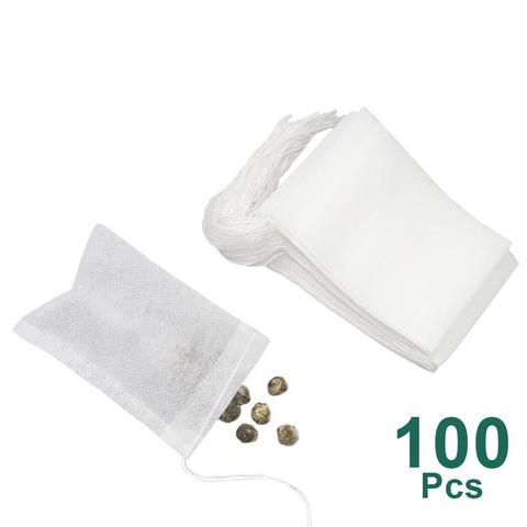 Tea Bags 100 Pcs/Lot Bags For Tea Bag Infuser With String Heal Seal 5.5 x 7CM Sachet Filter Paper Teabags Empty Tea Bags Pakistan