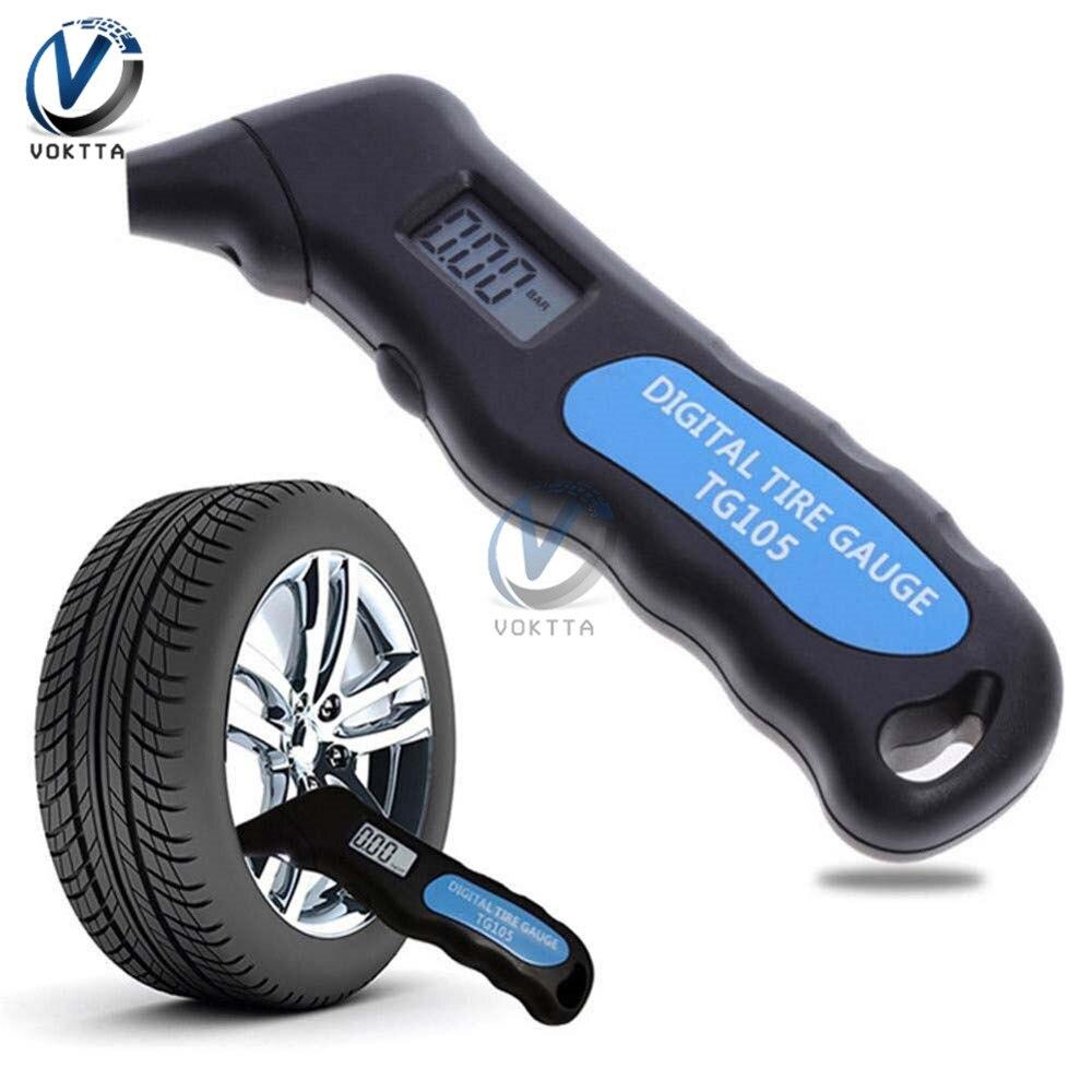 TG105 Digital Car Tire Air Pressure Gauge Meter Manometer Barometers Tester LCD Digital Display For Car Tools Motorcycle Test