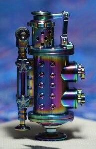 GLT 2 цвета 170 г 9*4 см обожженная паром космическая кабина ручной работы из титанового сплава жареная синяя керосиновая зажигалка