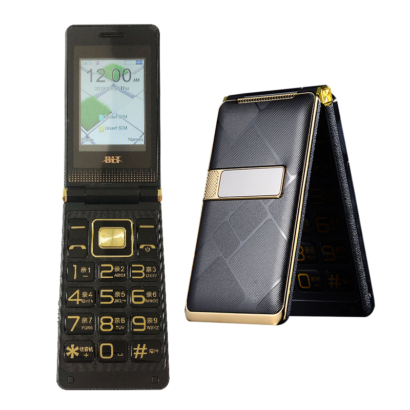 Flip Large Touch Screen Plastic Senior Cell Mobile Phone For Old People One Key Torch External FM Big Russian Key Dual Sim P019