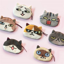 Cartoon Cat Pattern Coin Purse Cute Pouch Women Small Wallet Change Purse Child Mini Zipper Pocket Bag Key Card Coin Holder etya women coin purse cartoon cute headset bag small change purse wallet pouch bag for kids gift mini zipper coin storage bag