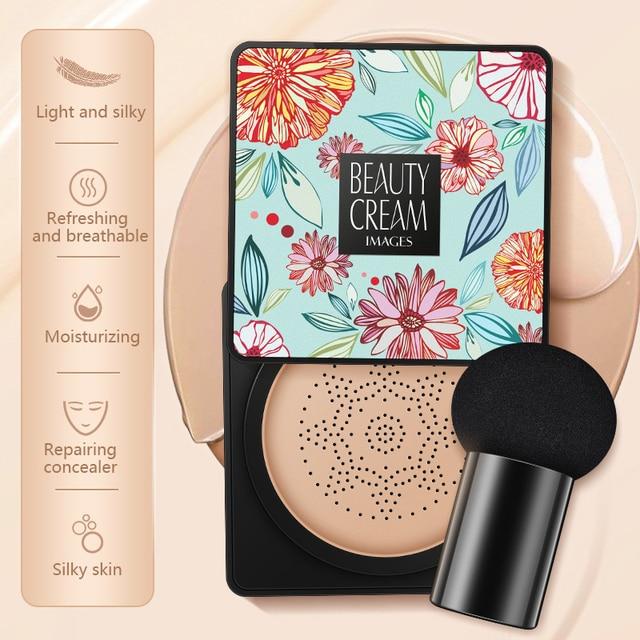 BB Air Cushion Foundation Mushroom Head CC Cream Concealer Whitening Makeup Cosmetic Waterproof Brighten Face Base Tone 3