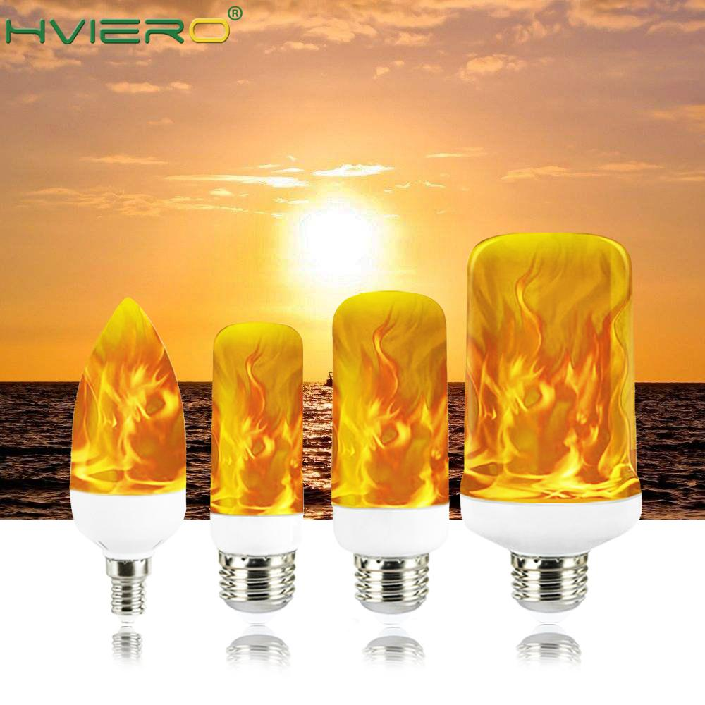 Flame Full Model 3W 5W 7W 9W E27 E14 Flame Bulb 85-265V LED Flame Effect Fire Light Bulbs Flickering Emulation Decor LED Lamp